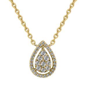 שרשרת זהב משובצת יהלומים
