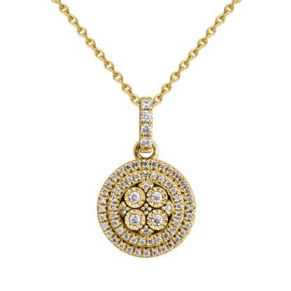 שרשרת זהב ותליון יהלומים מהמם