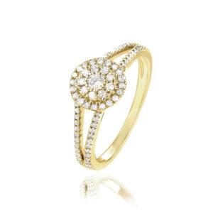 טבעת זהב מהממת משובצת יהלומים