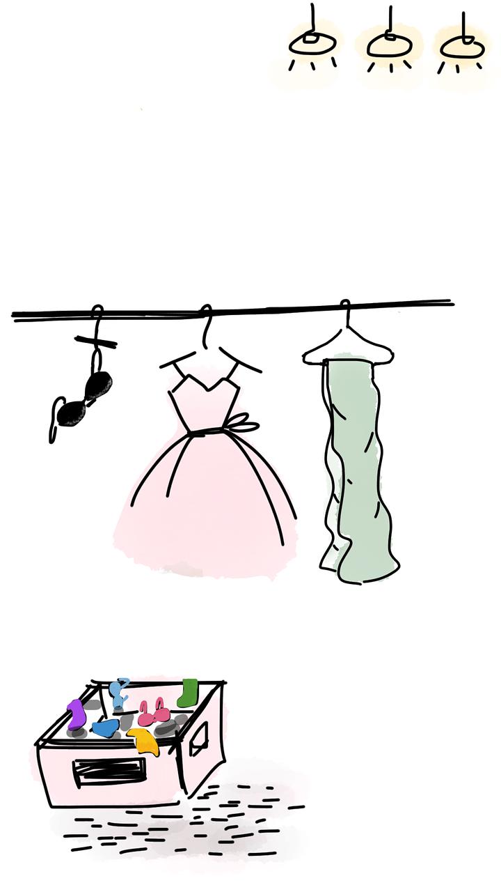 מחלקת הלבשה תחתונה לנשים בחנות אישית הלבשה תחתונה בקרנש מול Отдел нижнего белья для женщин в индивидуальном магазине нижнего белья перед кризисом