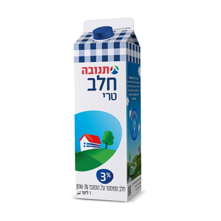 חלב 3% 1 ליטר