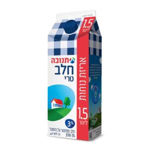 חלב 3% 1.5 ליטר