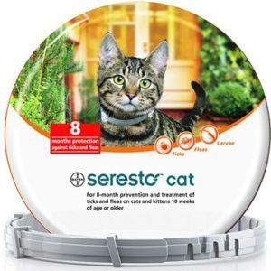 קולר סרסטו נגד פרושים וקרציות לחתול